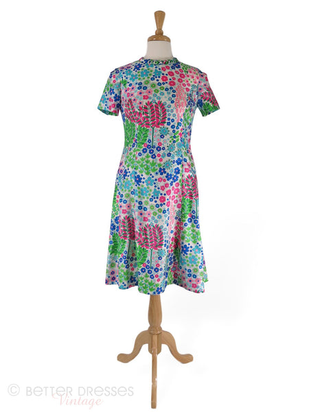60s Floral Shift Dress