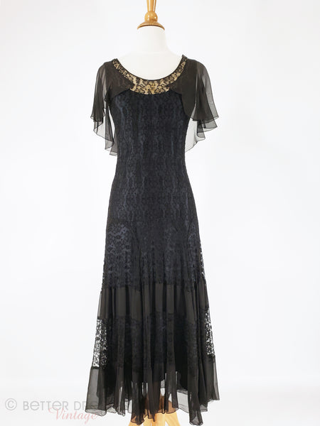 30s Black Lace Gown - Main view
