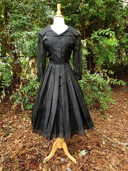 40s/50s New Look Silk Party Dress