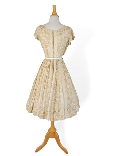 50s/60s Day Dress Back View With Crinoline