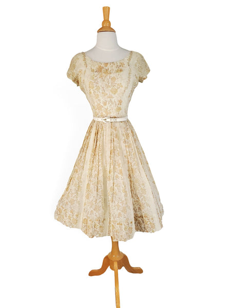 50s/60s Day Dress With Crinoline