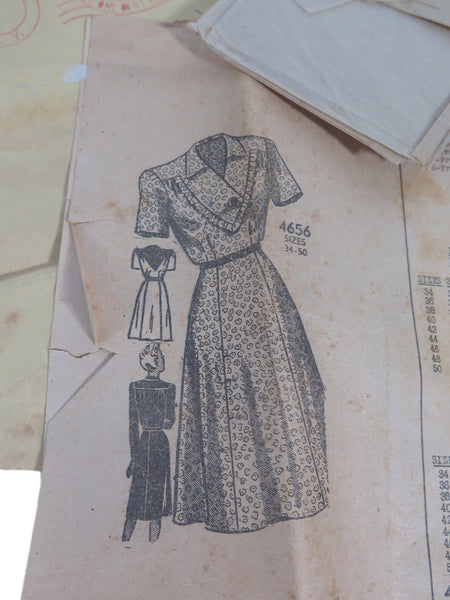 40s dress pattern design