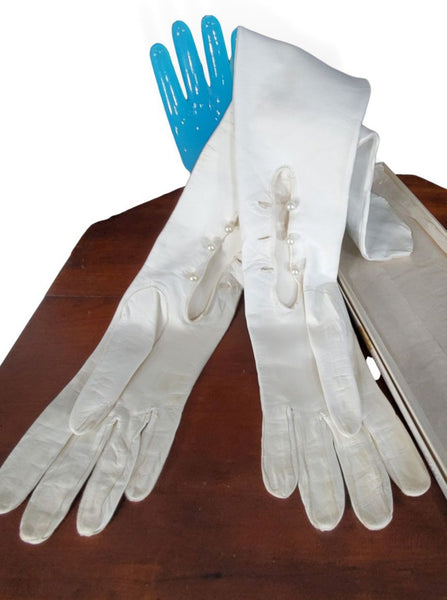 Opera Gloves, palms up with original box