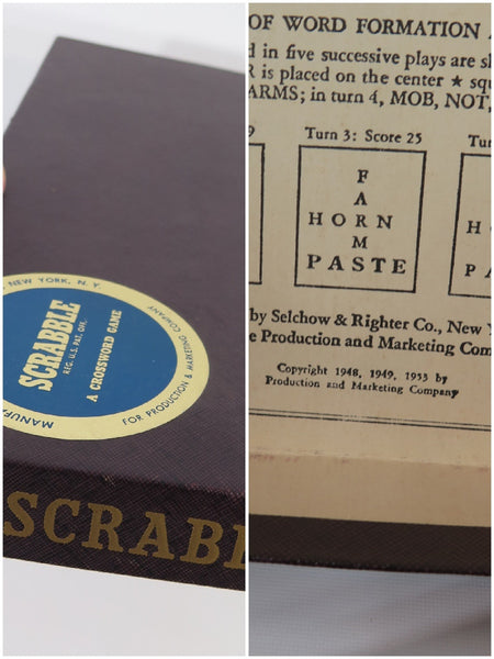 1953 Scrabble Game - box views