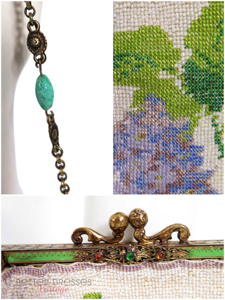 Antique Microbeaded Purse - details