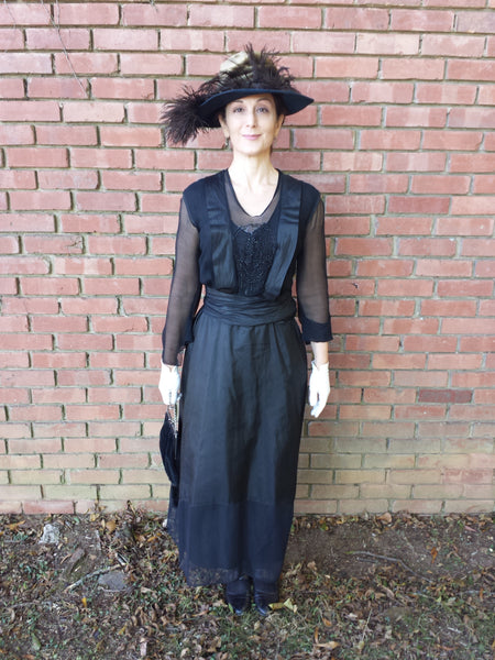 1910s dress - on set of upcoming TV series