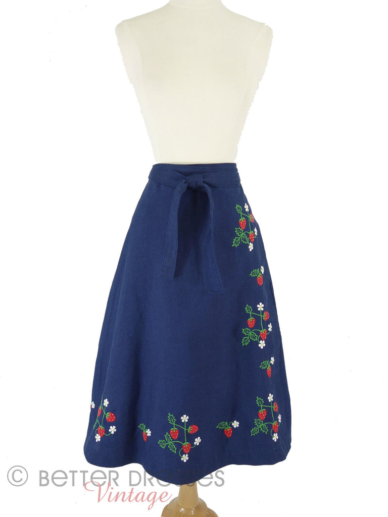 70s Wrap Skirt - front