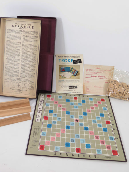 1953 Scrabble Board Game NIB