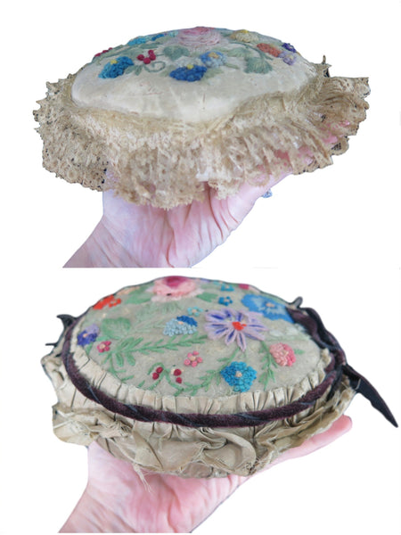 Edwardian Pincushion With Lace Trim