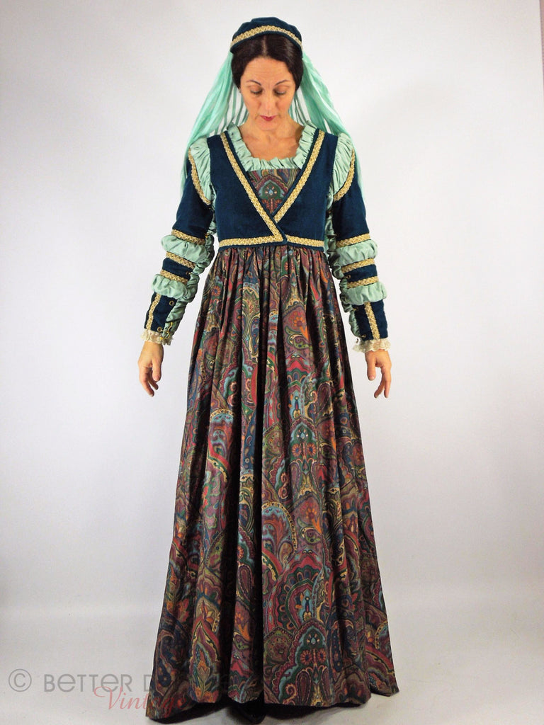 Tudor Dress + Headpiece Set - front full view