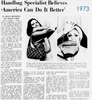 1973 newspaper feature article about MM Morris Moskowitz