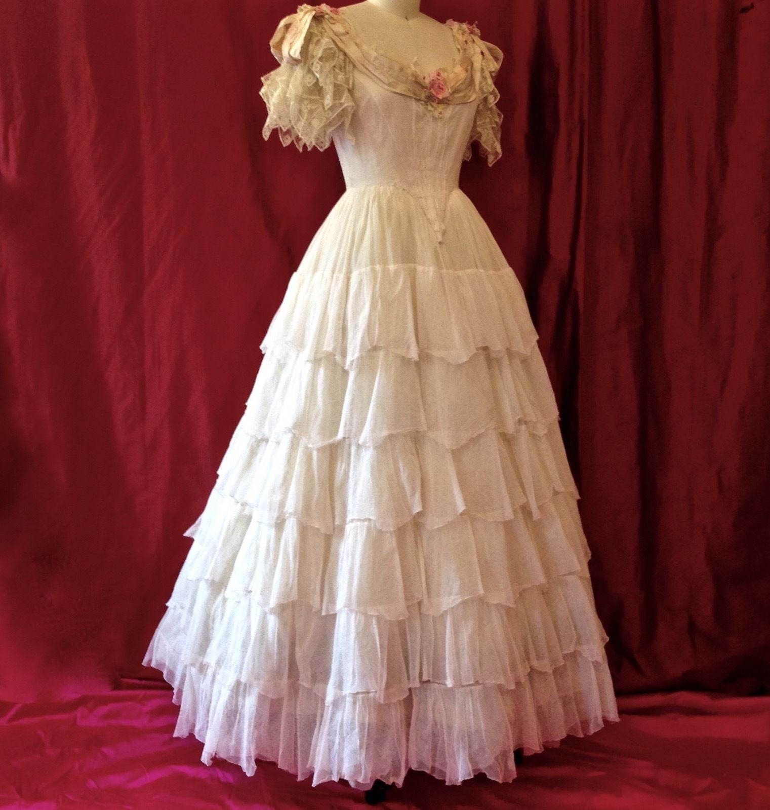 White Southern Belle Gown