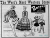 Porters Frontier Fashions advertisement from 1957
