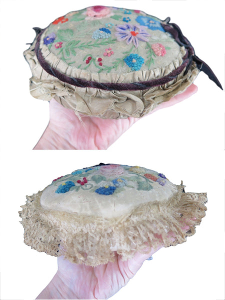Edwardian Pincushion With Velvet Trim