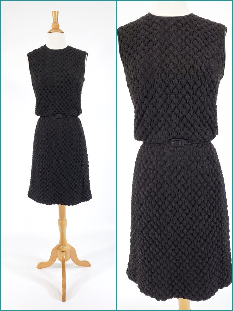 1960's Dress in Popcorn Knit