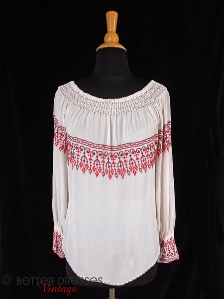 30s/40s Peasant Blouse - front