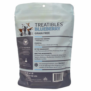 Treatibles Dog Chews - Small Breed 1mg Blueberry