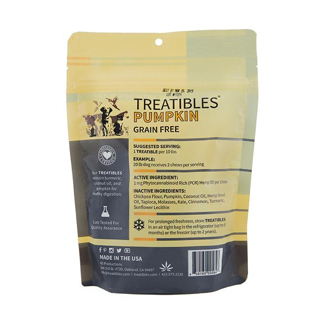 Treatibles Balance (Pumpkin Flavor) Hard Chews – Small Canine