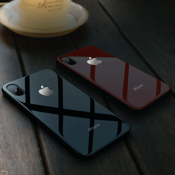 iPhone X Series Led Logo Glass Back Case