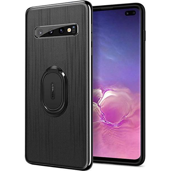 Galaxy S10 Plus Cloth Texture Ring Holder TPU Case