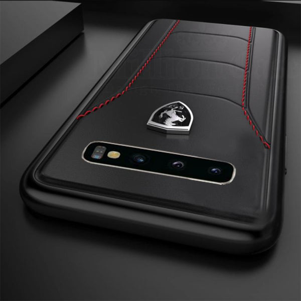 Ferrari Galaxy S10 Plus Genuine Leather Crafted Limited Edition Case