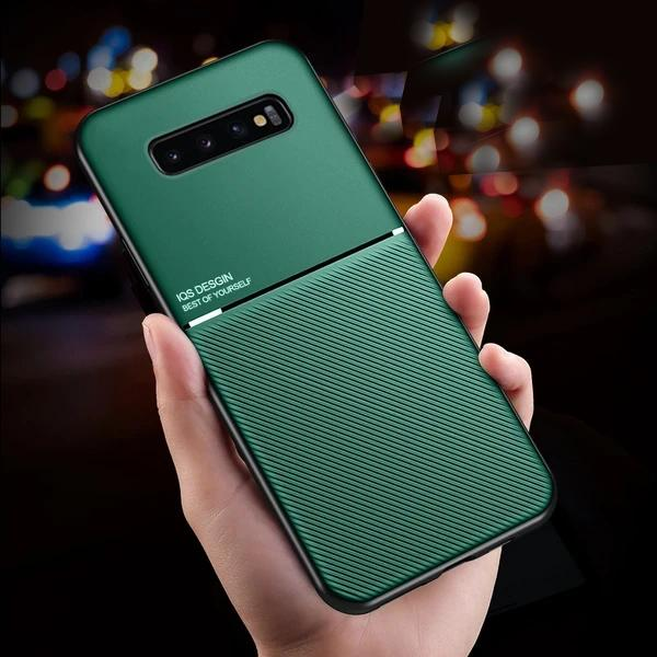 Galaxy S10 Plus Carbon Fiber Twill Pattern Soft TPU Case