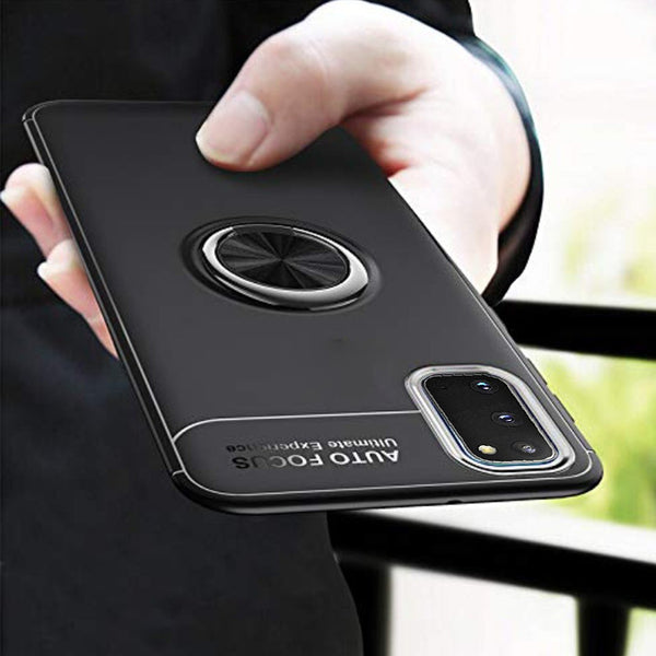 Galaxy S20 Metallic Finger Ring Holder Matte Case
