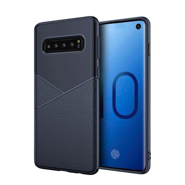 Galaxy S10 Business Leather Pattern TPU Soft Case