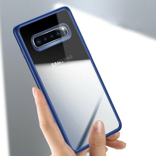Galaxy S10 Plus Hybrid Transparent Shockproof Bumper Case