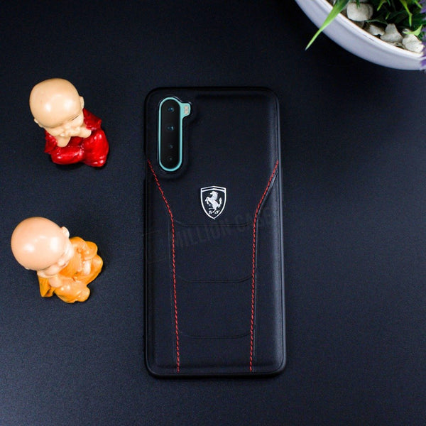Ferrari OnePlus Nord Genuine Crafted Business Leather Case