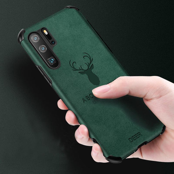 Galaxy Note 10 Plus Shockproof Deer Leather Texture Case
