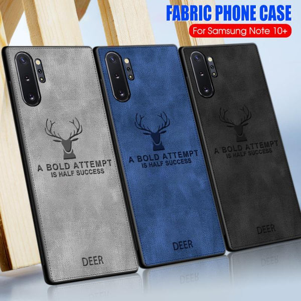 Galaxy Note 10 Plus Deer Pattern Inspirational Soft Case (3-in-1 Combo)