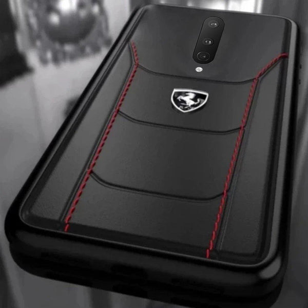 Ferrari ® Oneplus 8 Genuine Leather Crafted Limited Edition Case