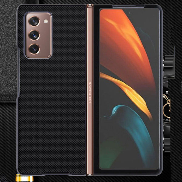 Galaxy Z Fold2 Ultra Thin Soft Fabric Canvas Hybrid Case