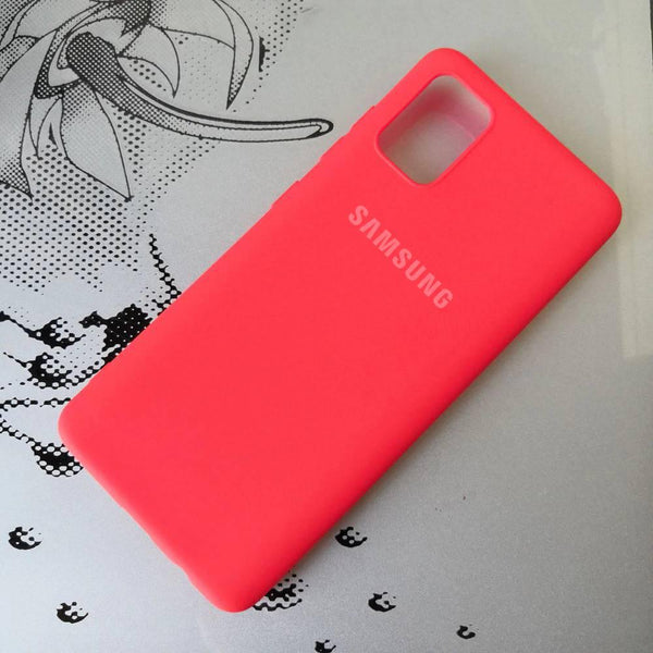 Galaxy S20 Silky Soft-Touch Silicone Logo Case
