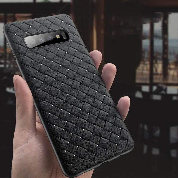 Henks Galaxy S10 Plus Ultra-thin Grid Weaving Case