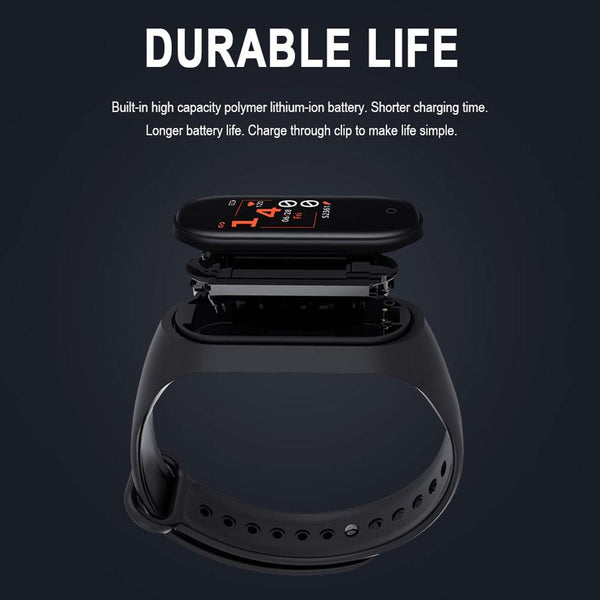 Smart Fitness Wrist Band with Oxymeter