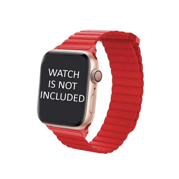 Red Leather Loop Strap 42mm for Apple Watch (ONLY STRAP NOT WATCH)