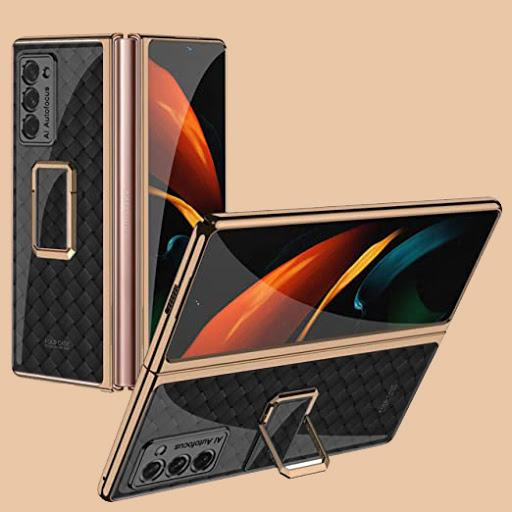 Galaxy Z Fold2 3D Grid Weaving Glass Back Case
