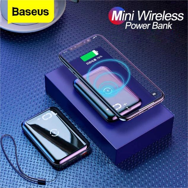 MK® Baseus  Mini S Bracket 10000mAh Power Bank With Wireless Charger