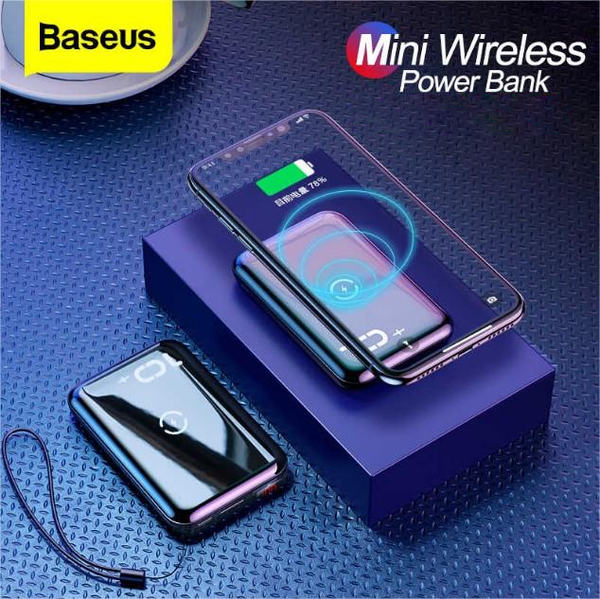 MK Baseus  Mini S Bracket 10000mAh Power Bank With Wireless Charger