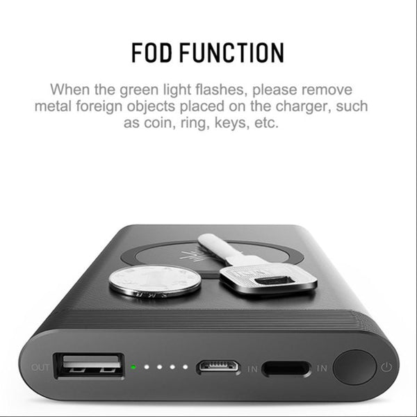 MK ROCK 10000mAh Wireless Charger Power Bank
