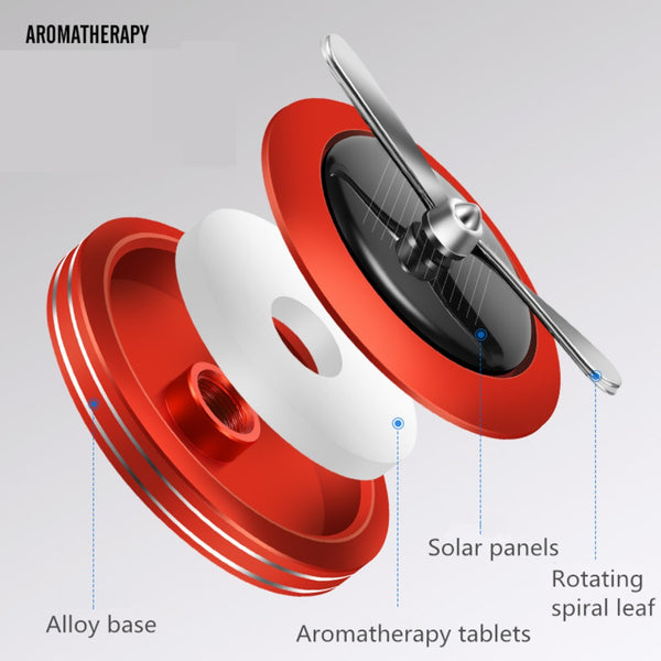 Auto Rotating Car Air Freshener Solar Fan
