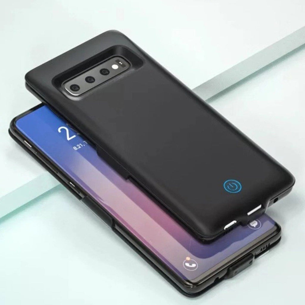 Galaxy S10 (3 in 1 Combo) 6000 mAh Battery Shell Case + Tempered Glass + Camera Lens Guard