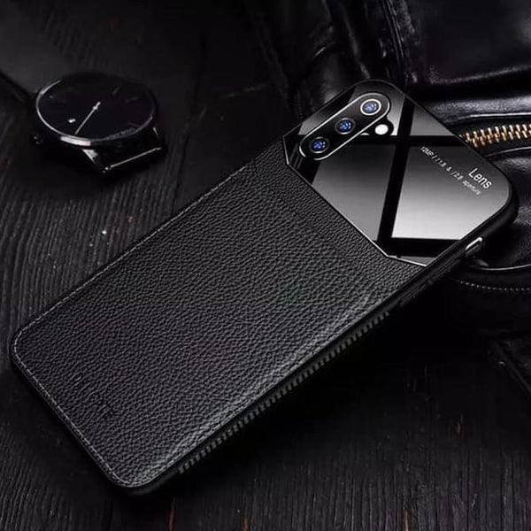 Galaxy Note 10 Sleek Slim Leather Glass Case