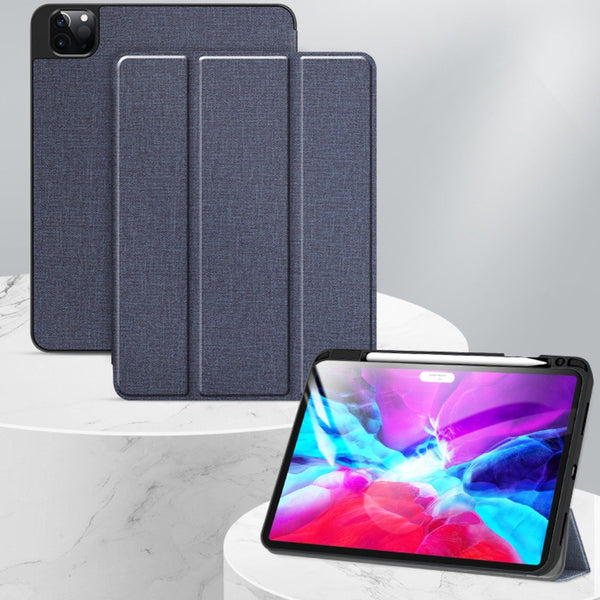 Mutural Smart Flip back Cover with Pencil holder for iPad