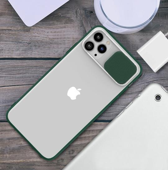 iPhone 11 Series Camera Lens Slide Protection Matte Case