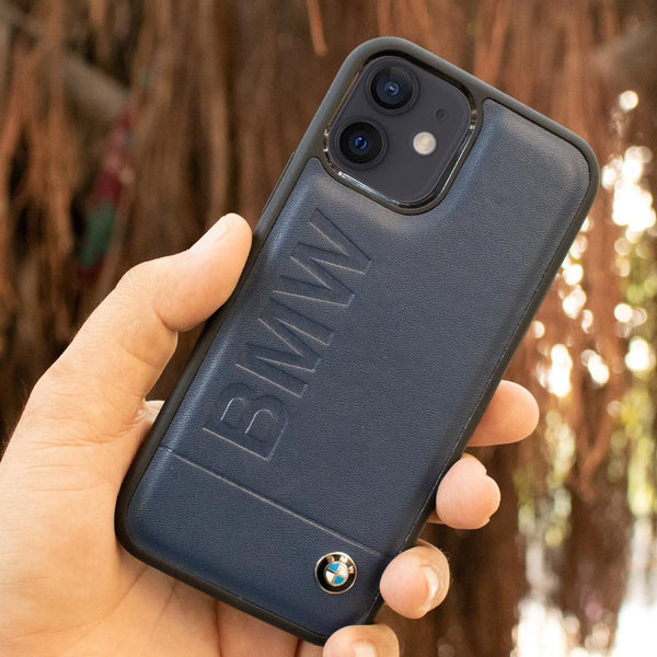 BMW iPhone 12 Series Genuine Leather Texture Case