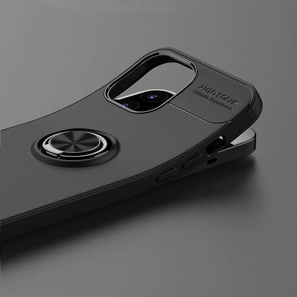 iPhone 12 Metallic Finger Ring Holder Matte Case
