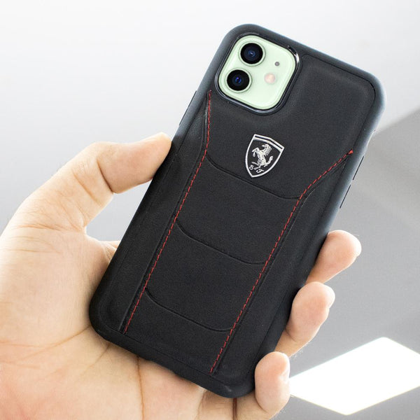 Ferrari iPhone 12 Mini Genuine Leather Crafted Limited Edition Case